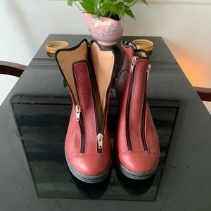 Shoes - Sexy platform punk goth style zip up red boots